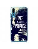 Coque Huawei P20 Pro Take me back to paradise USA Palmiers - Tara Yarte