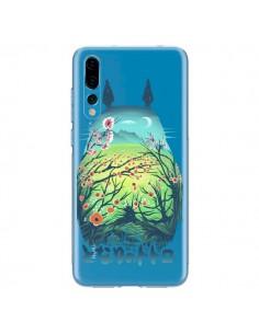 Coque Huawei P20 Pro Totoro Manga Flower Transparente - Victor Vercesi