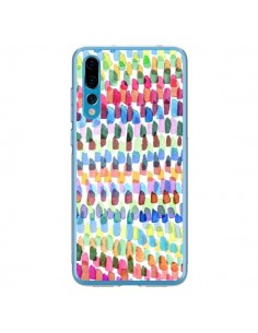 Coque Huawei P20 Pro Artsy Strokes Stripes Colorful - Ninola Design