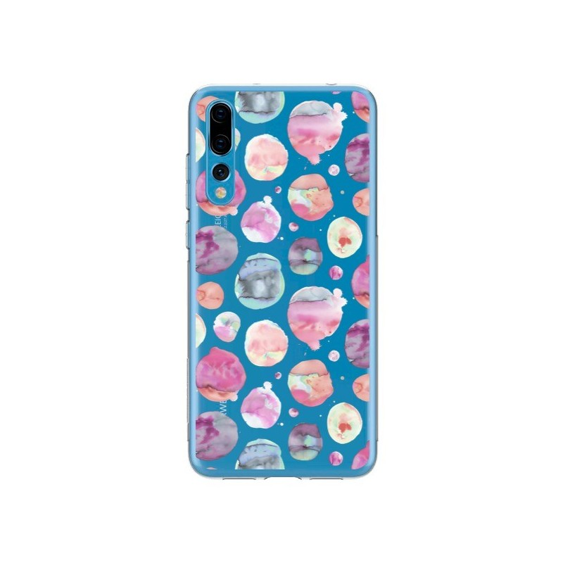 Coque Huawei P20 Pro Big Watery Dots Pink - Ninola Design