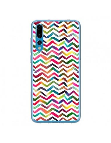 Coque Huawei P20 Pro Chevron Stripes Multicolored - Ninola Design