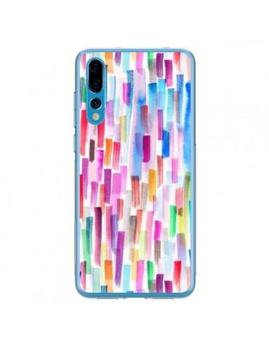 Coque Huawei P20 Pro Colorful Brushstrokes Multicolored - Ninola Design