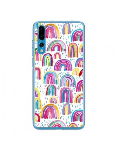 Coque Huawei P20 Pro Cute Watercolor Rainbows - Ninola Design