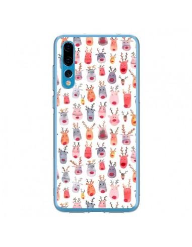 Coque Huawei P20 Pro Cute Winter Reindeers - Ninola Design