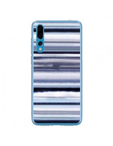Coque Huawei P20 Pro Degrade Stripes Watercolor Navy - Ninola Design