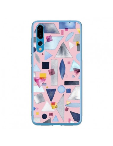 Coque Huawei P20 Pro Geometric Pieces Pink - Ninola Design