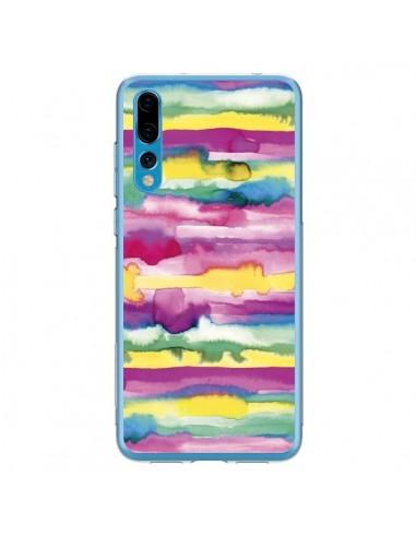Coque Huawei P20 Pro Gingham Vichy Pink - Ninola Design