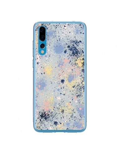 Coque Huawei P20 Pro Gradient Watercolor Lines Blue - Ninola Design