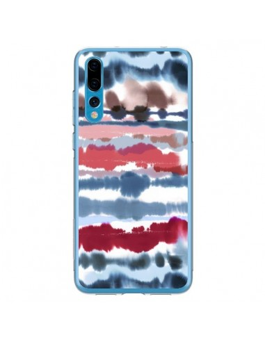 Coque Huawei P20 Pro Smoky Marble Watercolor Dark - Ninola Design