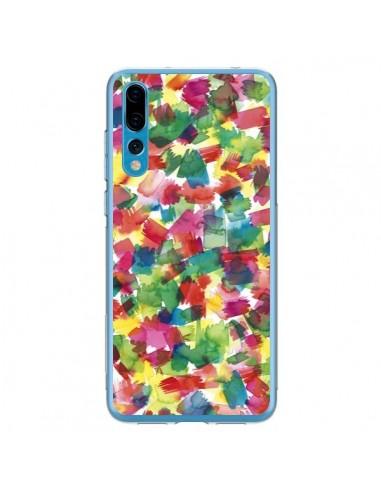 Coque Huawei P20 Pro Speckled Watercolor Blue - Ninola Design