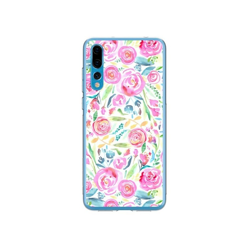 Coque Huawei P20 Pro Speckled Watercolor Pink - Ninola Design