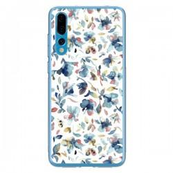 Coque Huawei P20 Pro Watery Hibiscus Blue - Ninola Design