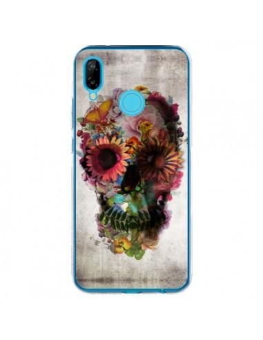 Coque Huawei P20 Lite Skull Flower Tête de Mort - Ali Gulec