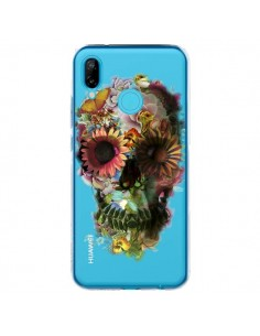 Coque Huawei P20 Lite Skull Flower Tête de Mort Transparente - Ali Gulec