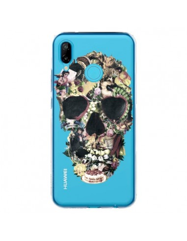 Coque Huawei P20 Lite Skull Vintage Tête de Mort Transparente - Ali Gulec