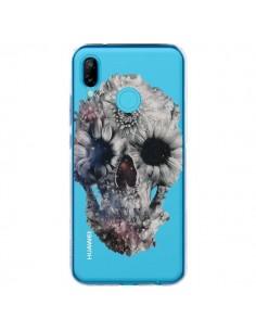 Coque Huawei P20 Lite Floral Skull Tête de Mort Transparente - Ali Gulec