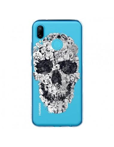 Coque Huawei P20 Lite Doodle Skull Dessin Tête de Mort Transparente - Ali Gulec