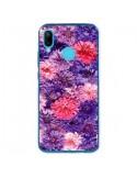Coque Huawei P20 Lite Fleurs Violettes Flower Storm - Asano Yamazaki
