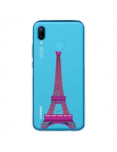 Coque Huawei P20 Lite Tour Eiffel Rose Paris Transparente - Asano Yamazaki