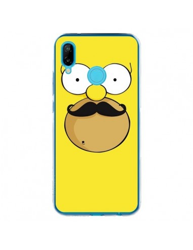 Coque Huawei P20 Lite Homer Movember Moustache Simpsons - Bertrand Carriere