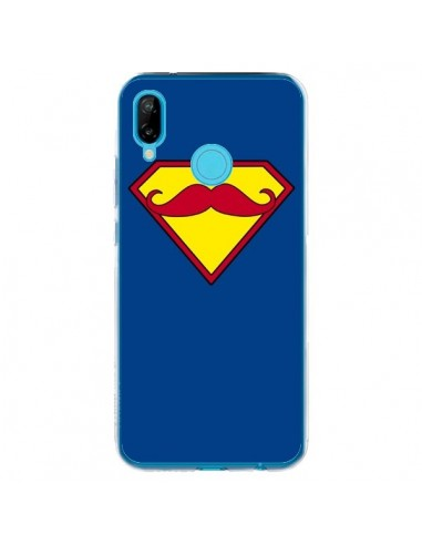 Coque Huawei P20 Lite Super Moustache Movember Superman - Bertrand Carriere