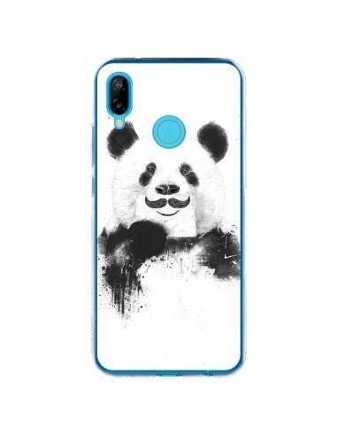 Coque Huawei P20 Lite Funny Panda Moustache Movember - Balazs Solti