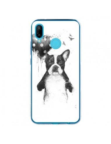 Coque Huawei P20 Lite Lover Bulldog Chien Dog My Heart Goes Boom - Balazs Solti