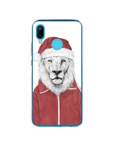 Coque Huawei P20 Lite Santa Lion Père Noel - Balazs Solti