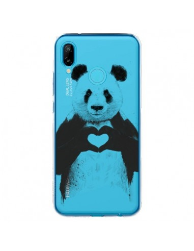 Coque Huawei P20 Lite Panda All You Need Is Love Transparente - Balazs Solti