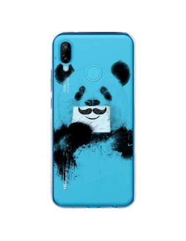 Coque Huawei P20 Lite Funny Panda Moustache Transparente - Balazs Solti