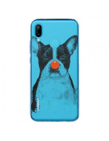 Coque Huawei P20 Lite Clown Bulldog Dog Chien Transparente - Balazs Solti
