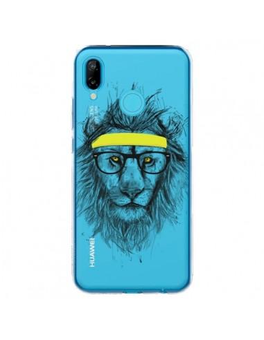 Coque Huawei P20 Lite Hipster Lion Transparente - Balazs Solti