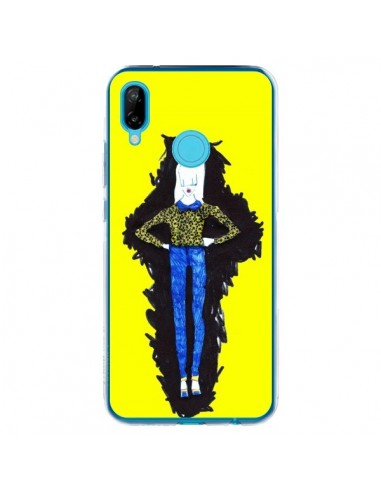 Coque Huawei P20 Lite Julie Femme Fashion Mode Jaune - Cécile