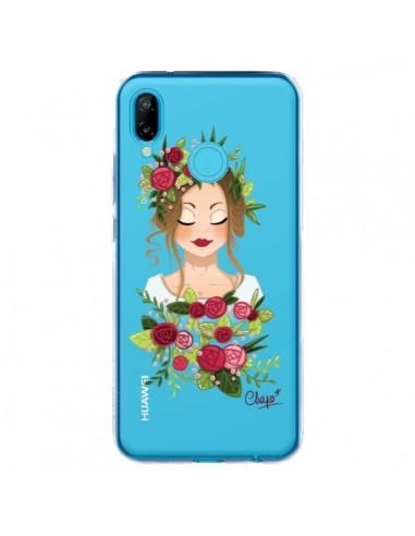 Coque Huawei P20 Lite Femme Closed Eyes Fleurs Transparente - Chapo