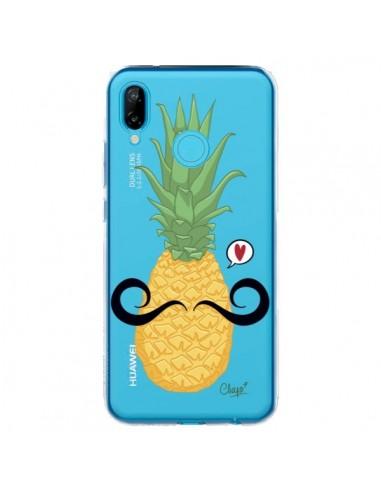Coque Huawei P20 Lite Ananas Moustache Transparente - Chapo