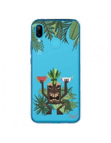 Coque Huawei P20 Lite Tiki Thailande Jungle Bois Transparente - Chapo
