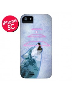 Coque Loup Wolf Spirit pour iPhone 5C - Jonathan Perez