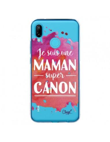 Coque Huawei P20 Lite Je suis une Maman super Canon Rose Transparente - Chapo