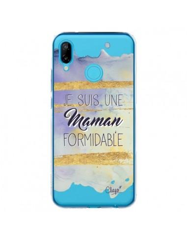 Coque Huawei P20 Lite Je suis une Maman Formidable Violet Transparente - Chapo