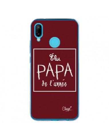 Coque Huawei P20 Lite Elu Papa de l'Année Rouge Bordeaux - Chapo