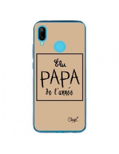 Coque Huawei P20 Lite Elu Papa de l'Année Beige - Chapo