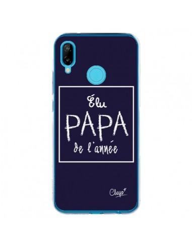 Coque Huawei P20 Lite Elu Papa de l'Année Bleu Marine - Chapo