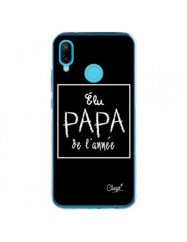 Coque Huawei P20 Lite Elu Papa de l'Année Noir - Chapo