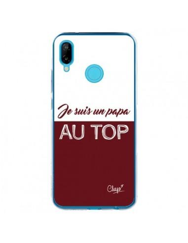 Coque Huawei P20 Lite Je suis un Papa au Top Rouge Bordeaux - Chapo