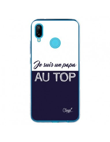 Coque Huawei P20 Lite Je suis un Papa au Top Bleu Marine - Chapo