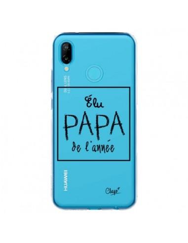Coque Huawei P20 Lite Elu Papa de l'Année Transparente - Chapo