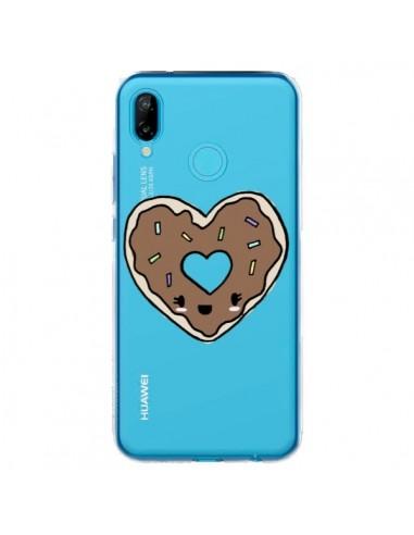 Coque Huawei P20 Lite Donuts Heart Coeur Chocolat Transparente - Claudia Ramos