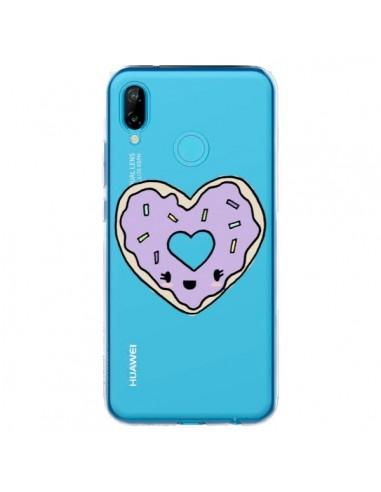 Coque Huawei P20 Lite Donuts Heart Coeur Violet Transparente - Claudia Ramos