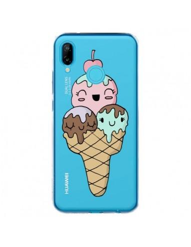 Coque Huawei P20 Lite Ice Cream Glace Summer Ete Cerise Transparente - Claudia Ramos