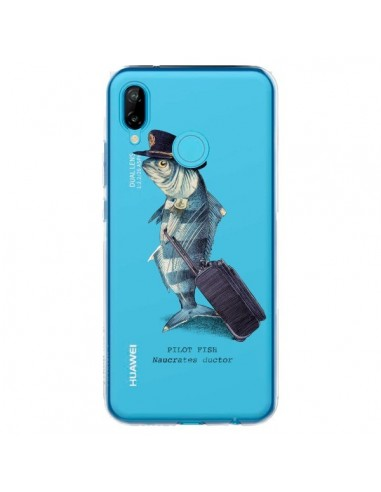 Coque Huawei P20 Lite Pilot Fish Poisson Pilote Transparente - Eric Fan
